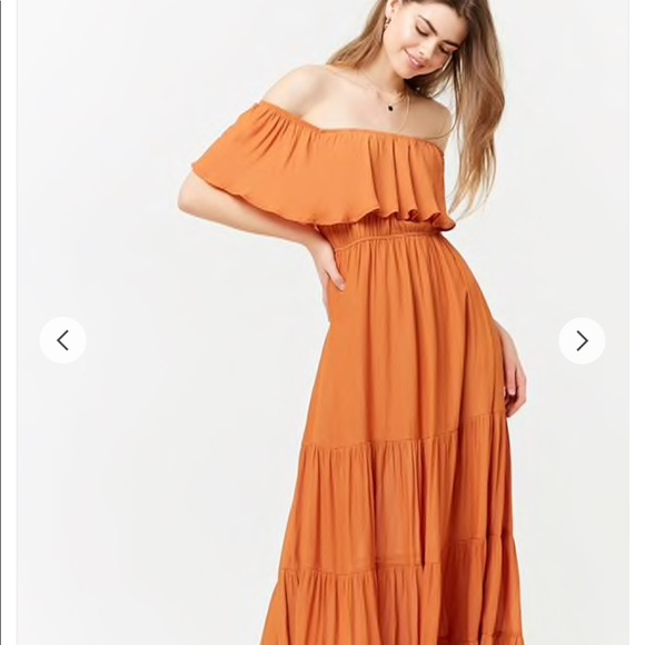 7a33832f5f0 Forever 21 Dresses   Skirts - Off the shoulder maxi dress